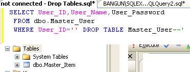 Sql injection 1 bangun ariyanto 39 s blog - Sql injection drop table example ...
