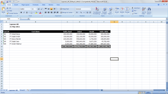 Output Excel Office Automation